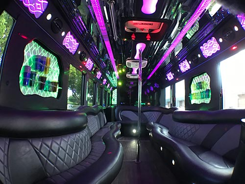 Party Bus 40 Passengers Interior