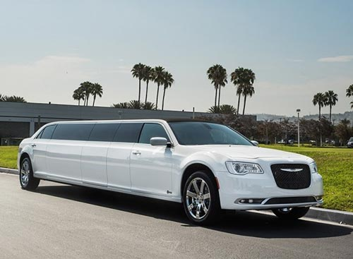 Chrysler 300 wedding limo